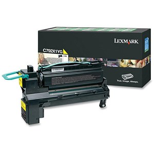 Image of Lexmark C792X1YG Extra High Yield Yellow Laser Toner Cartridge