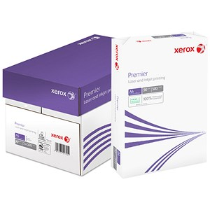 Image of Xerox A4 Premier Paper / White / 90gsm / Box (5 x 500 Sheets)