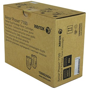 Image of Xerox Phaser 7100 Toner / High Yield / Yellow / Pack of 2