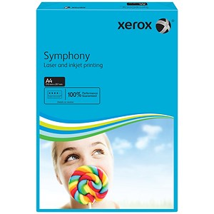 Image of Xerox Symphony Deep Tints Paper / Dark Blue / A4 / 80gsm / Ream (500 Sheets)