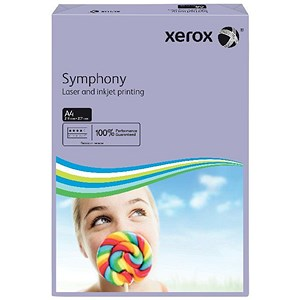 Image of Xerox Symphony Medium Tints Paper / Lilac / A4 / 80gsm / Ream (500 Sheets)