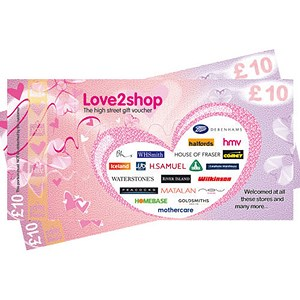Image of £20 High Street Gift Voucher