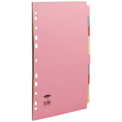 Concord Commercial File Dividers, 10-Part, A4, Assorted