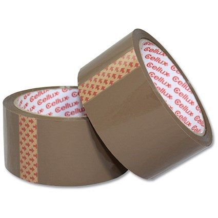 Sellotape Cellux Tape, 48mmx50m, Buff, Pack of 6