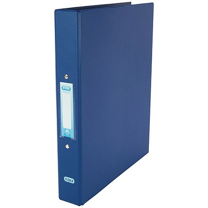 Elba Ring Binder, A4, 2 O-Ring, 25mm Capacity, Blue, Pack of 10