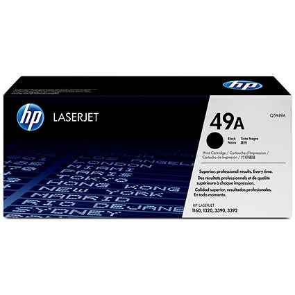 HP 49A Black Laser Toner Cartridge