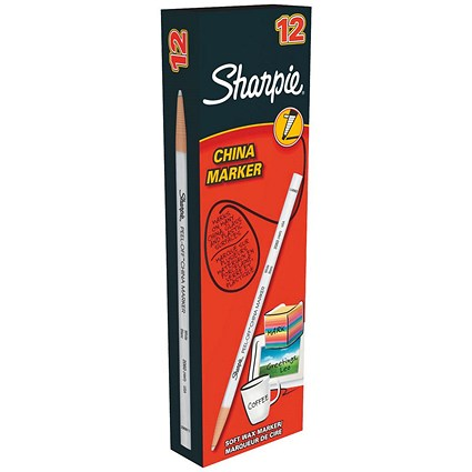 Sharpie China Wax Marker Pencil / White / Pack of 12