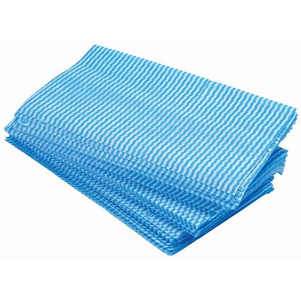 5 Star Large All Purpose cloths / 610x360mm / Blue / Pack of 50