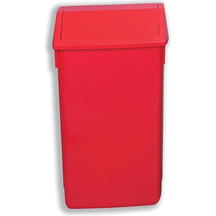 Flip Top Bin, 60 Litres, Red