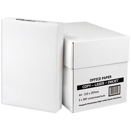 Everyday A4 Multifunctional Paper, White, Box (5 x 500 Sheets)