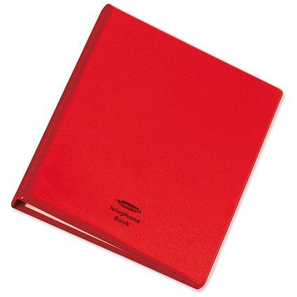 Telephone Index and Address Book Binder with Matching A-Z Index and 20 Sheets / A5 / Red