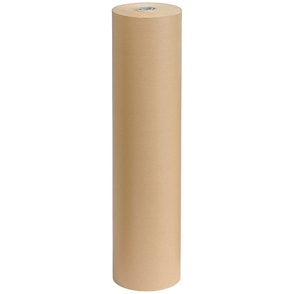 Kraft Paper Packaging Roll / 70gsm / 750mmx300m / Brown