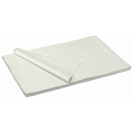 Acid Free Tissue Paper Packing Sheets, 17gsm, 500x750mm, White, Pack of 480