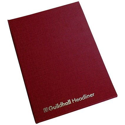 Guildhall Headliner Account Book 38/6Z - 6 Cash Columns