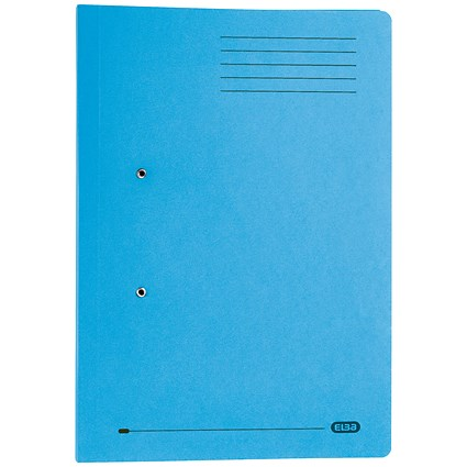 Elba Stratford Pocket Transfer Files / 320gsm / Foolscap / Blue / Pack of 25
