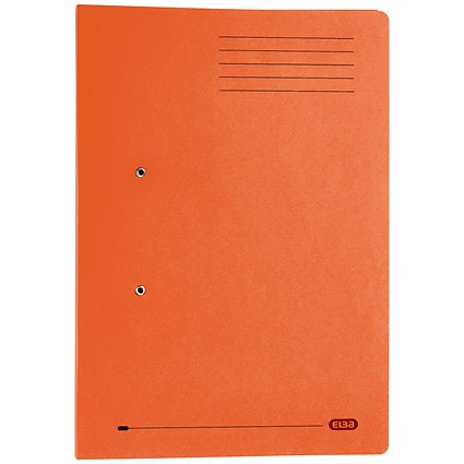 Elba Stratford Pocket Transfer Files / 320gsm / Foolscap / Orange / Pack of 25