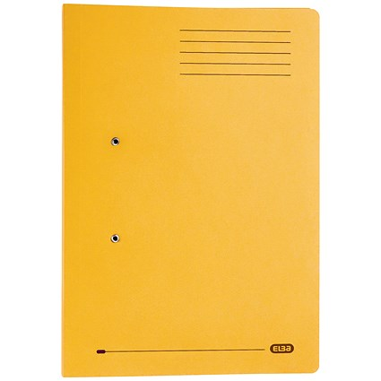 Elba Stratford Pocket Transfer Files / 320gsm / Foolscap / Yellow / Pack of 25
