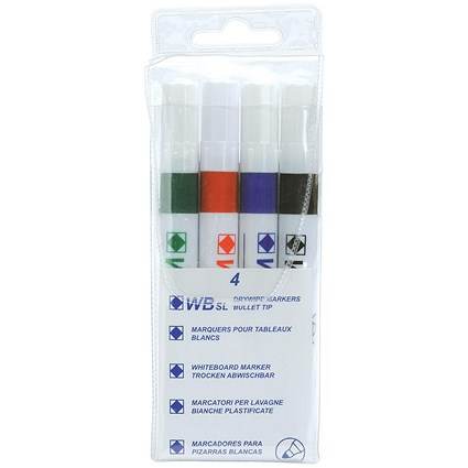 Everyday Strategy SL Dry Wipe Markers / Assorted Colours / Pack of 4