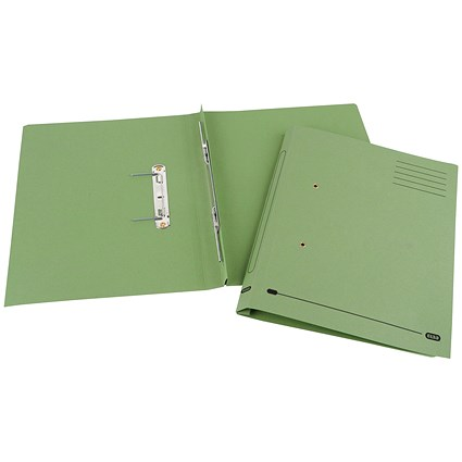 Elba Spirosort Transfer Files, 285gsm, Foolscap, Green, Pack of 25