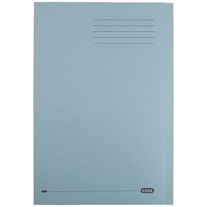Elba Square Cut Folders, 290gsm, Foolscap, Blue, Pack of 100