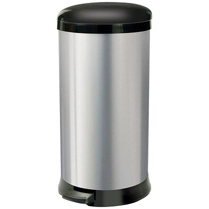 Addis Pedal Bin / Cushion Close / 30 Litre / Stainless Steel