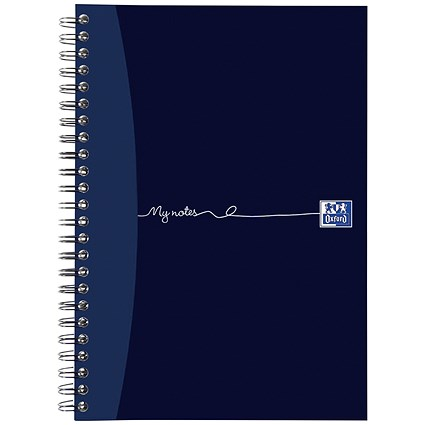 Oxford MyNotes Wirebound Notebook / A5 / Feint Ruled & Margin / 200 Pages / Pack of 3