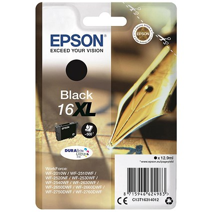 Epson 16XL High Yield Black Inkjet Cartridge