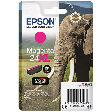 Epson 24XL Magenta Inkjet Cartridge