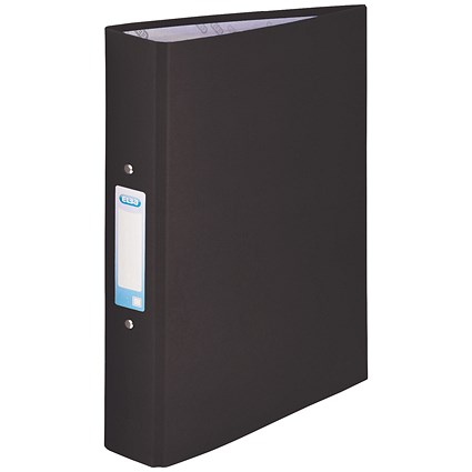 Elba Ring Binder, A4, 2 O-Ring, 25mm Capacity, Black