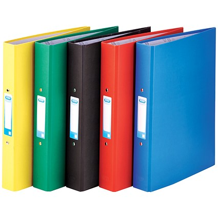 Elba Ring Binder / A4+ / 2 O-Ring / 25mm Capacity / Assorted / Pack of 10