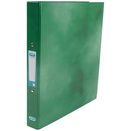 Elba Ring Binder / A4 / 2 O-Ring / Gloss Finish / 25mm Capacity / Green