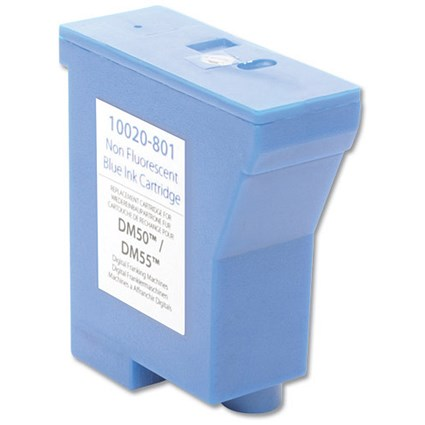 Totalpost Compatible Blue Franking Inkjet Cartridge / Equivalent to Pitney Bowes DM50 Series
