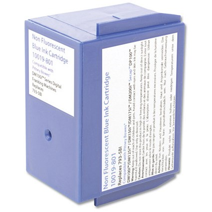 Totalpost Compatible Blue Franking Inkjet Cartridge, Equivalent to Pitney Bowes DM100i Series