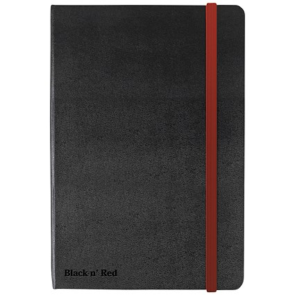 Black n' Red Casebound Notebook / A5 / Ruled & Numbered / 144 Pages