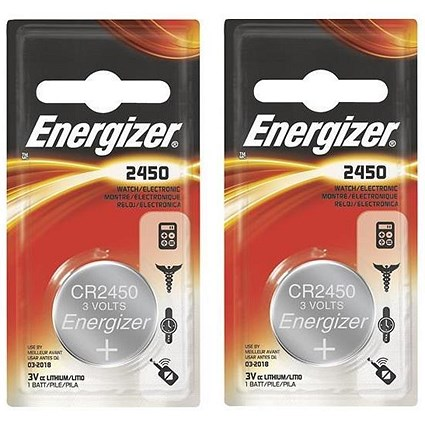 Energizer CR2450 Lithium Battery - Pack of 2