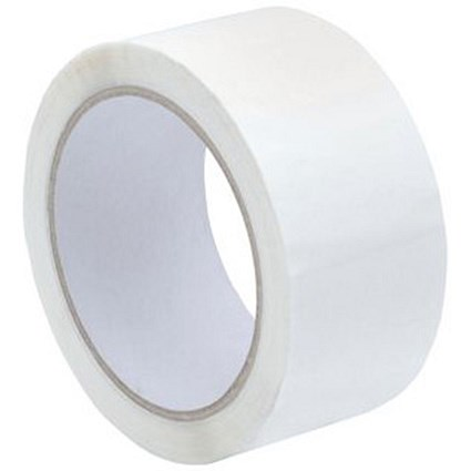 Polypropylene Tape / 50mmx66m / White / Pack of 6