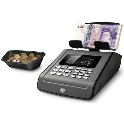 Safescan 6185 Coin and Banknote Counting Scale Black