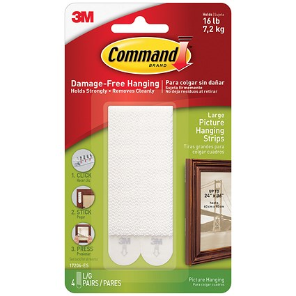 Command Picture Hanging Strips / Large / Pack of 4