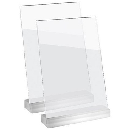 Sigel Frozenacrylic Table Top Display Frame / Slanted / A4 / Pack of 2