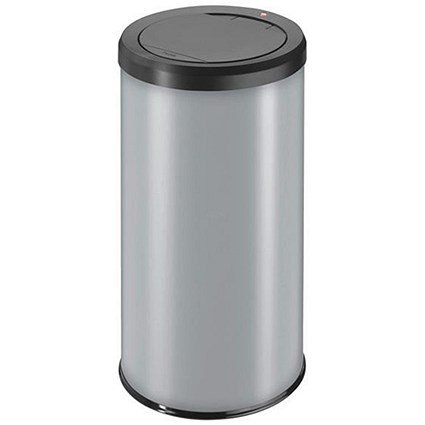 Big Bin Touch Round Stainless Steel and Coated Sheet Steel 45 Litre Silver