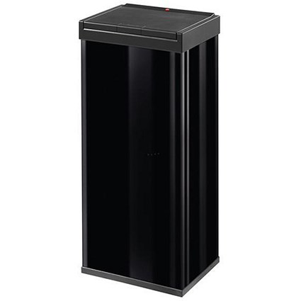 Big Bin Touch Steel and Impact-resistant Plastic Flat Packed 60 Litre Black