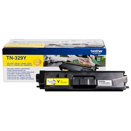 Brother TN329Y Super High Yield Yellow Laser Toner Cartridge