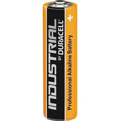 Duracell Industrial Alkaline Battery, 1.5V, AA, Pack of 10