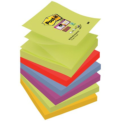 Post-it Super Sticky Z-Notes / 76x76mm / Marrakesh / Pack of 6 x 90 Notes