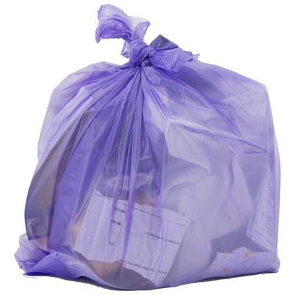 Robinson Young Le Cube Pedal Bin Liners / Heavy Duty / 12 Litre / 440x450mm / Lilac / Pack of 300
