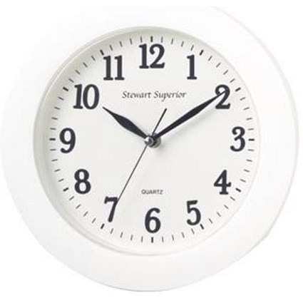 5 Star Wall Clock Plastic 12 Hour Dial Diameter 250mm White