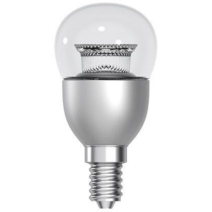 tungsram bulb led e14 globe crown deco 6w 40w equivalent eec a energy smart dimmable clear. Black Bedroom Furniture Sets. Home Design Ideas