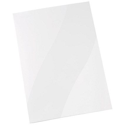 5 Star A4 Presentation Folders, Gloss White, Pack of 50