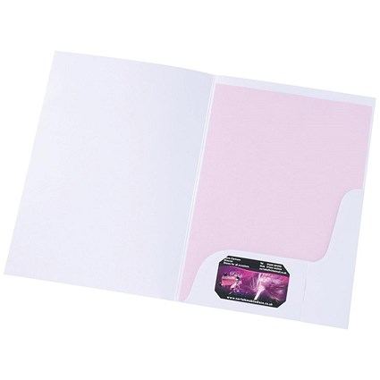 5 Star A4 Presentation Folders, Matt White, Pack of 50