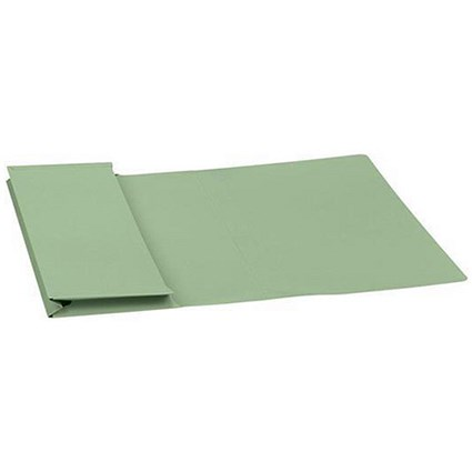Guildhall Document Wallets Full Flap / 315gsm / Foolscap / Green / Pack of 50